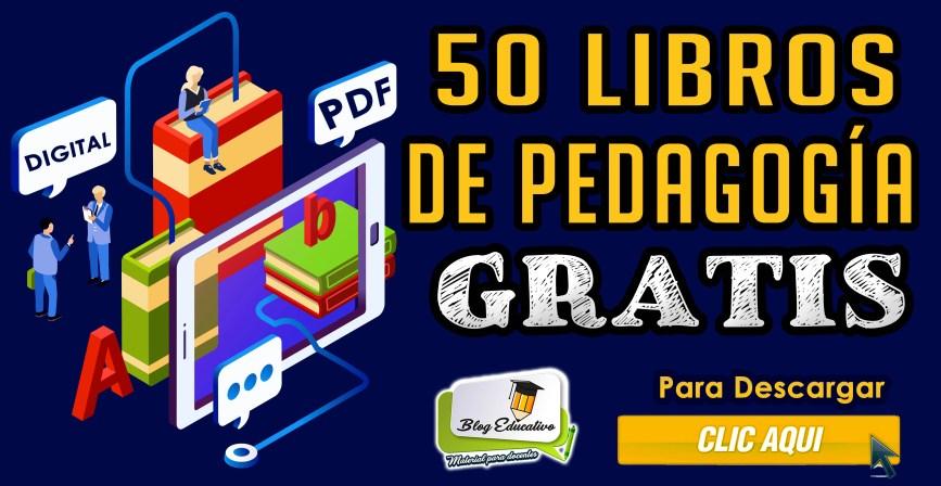50 libros de Pedagogía en PDF Gratis - Blog Educativo