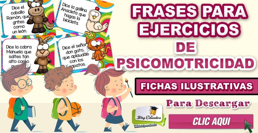 Ejercicios de Psicomotricidad - Fichas Ilustrativas gratis