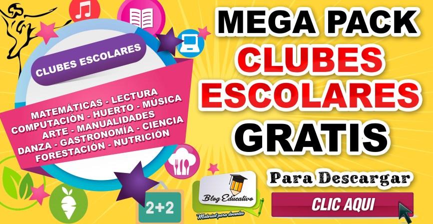 Mega pack Clubes Escolares gratis - Blog Eduactivo
