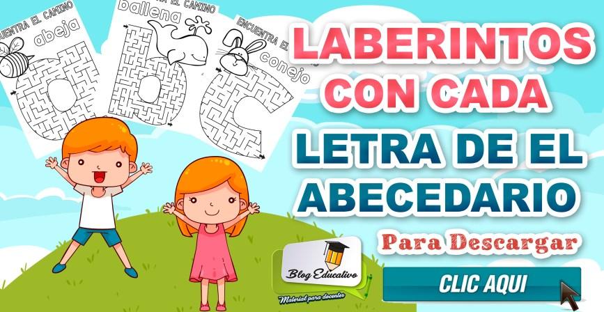 Laberintos con cada letra de el Abecedario - Blog Educativo