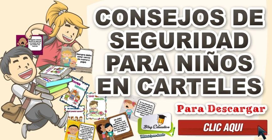 Consejos de seguridad para niños en carteles - Blog Educativo