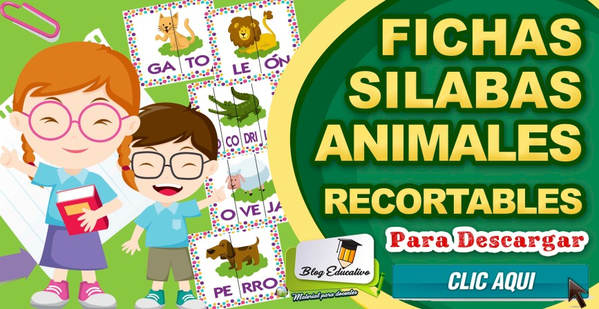 Fichas Silabas Animales Recortables - Blog Educativo