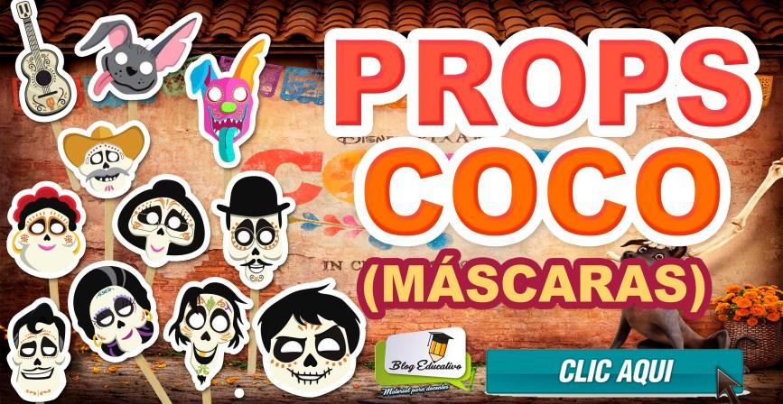 Props Coco Pixar Máscaras gratos - Blog Educativo