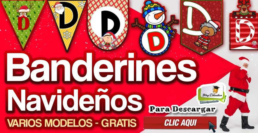 Banderines Navideños - Varios Modelos - Blog Educativo