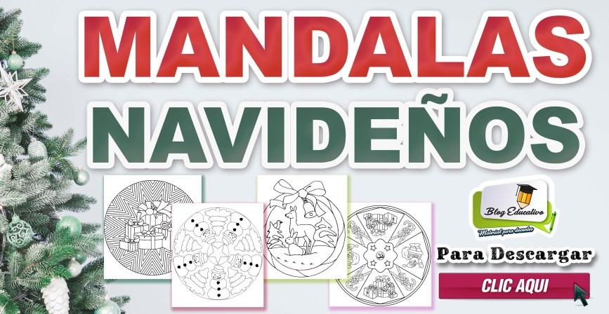 MANDALAS NAVIDEÑOS DISEÑO PDF IMPRIMIBLE GRATIS