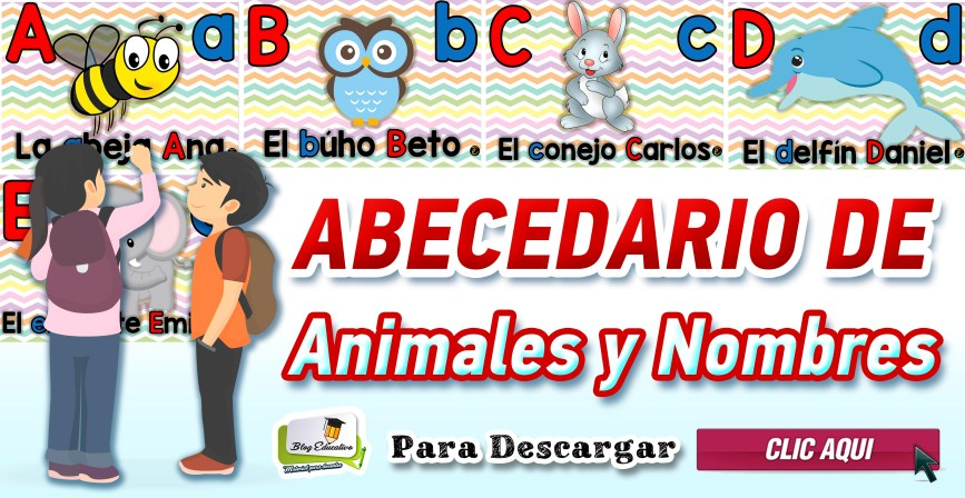 Abecedario de Animales y Nombres - Blog Educativo
