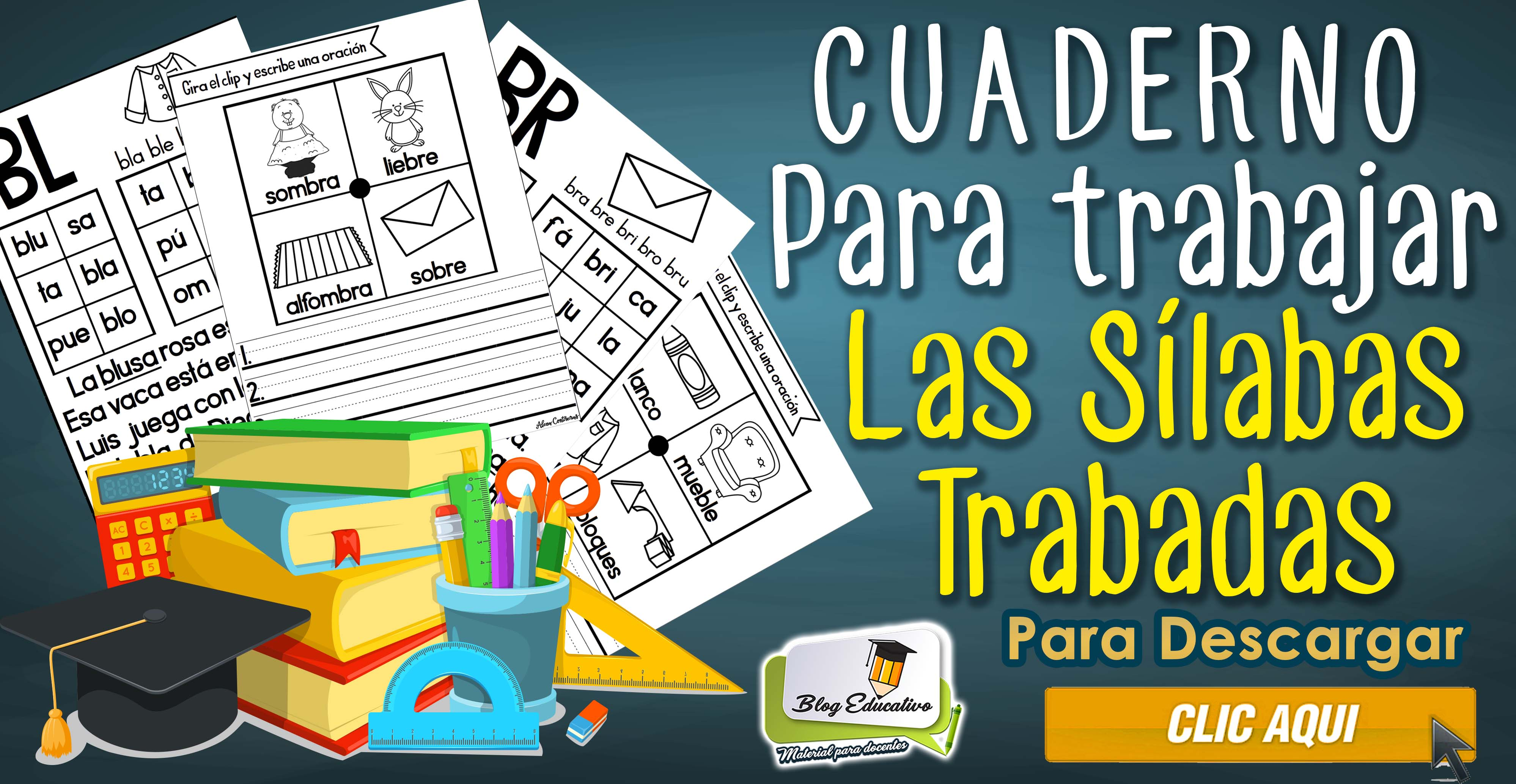 Cuaderno para trabajar las Sílabas trabadas - Blog Educativo