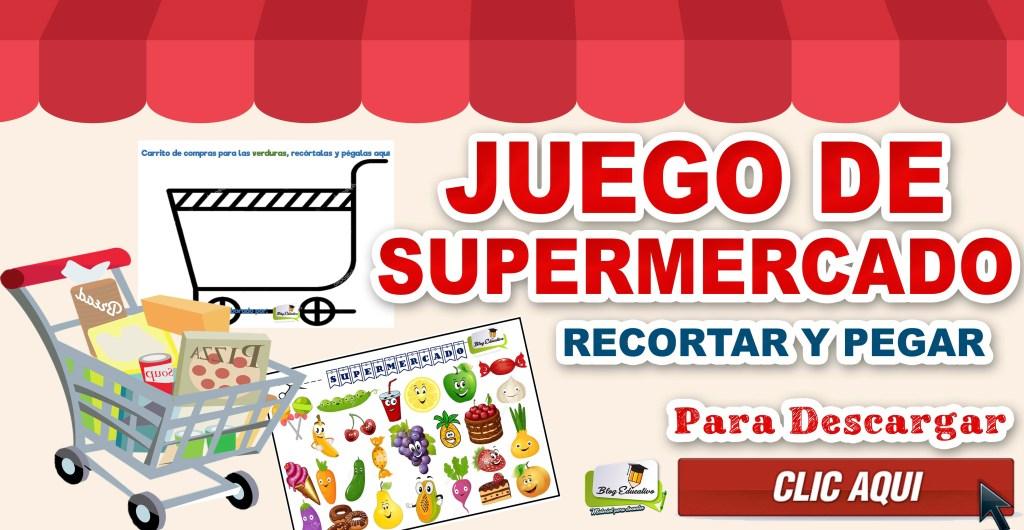 Juego de Supermercado Recortar, ordenar y Pegar
