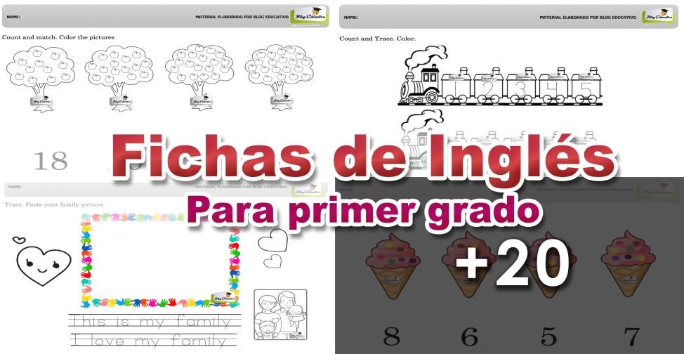 Fichas de Inglés para primer grado - Blog Educativo