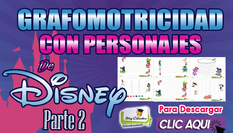 Grafomotricidad Disney 2 en PDF Gratis