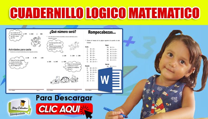 Cuadernillo de Razonamiento lógico Matemático en Formato Word
