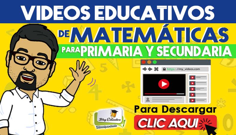 Vídeos Educativos de Matemáticas para Primaria y Secundaria