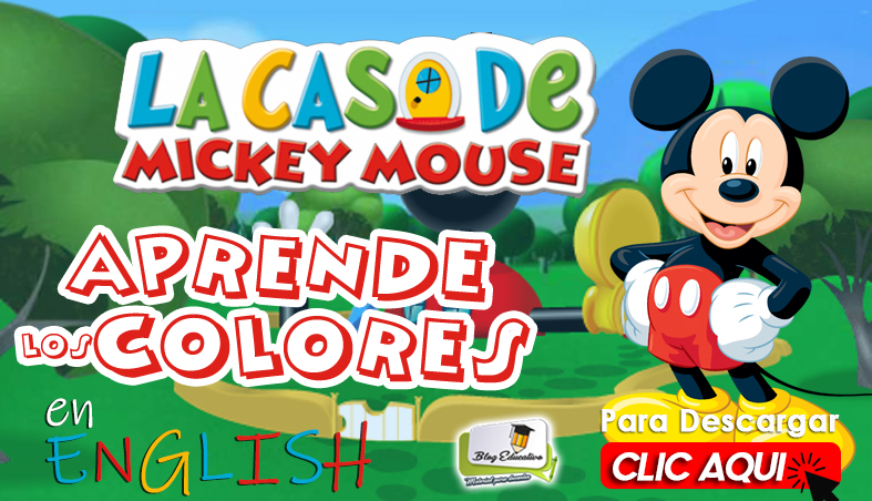 Aprende los Colores en English con Mickey Mouse