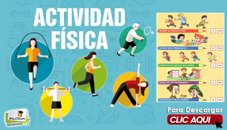 Fichas de Actividad física para Primaria - Blog Educativo