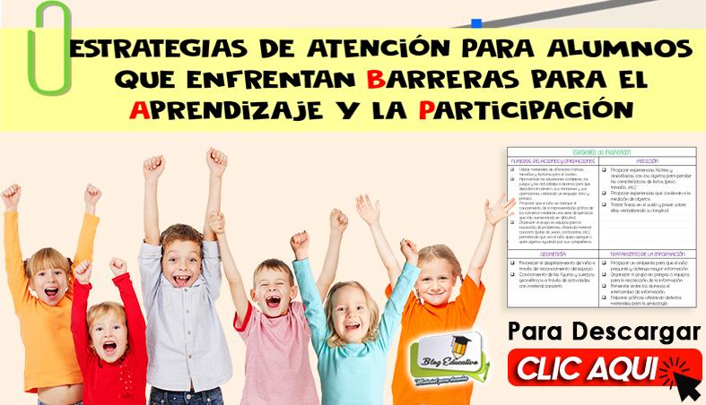 Atención para Alumnos con Barreras para el Aprendizaje y Participación