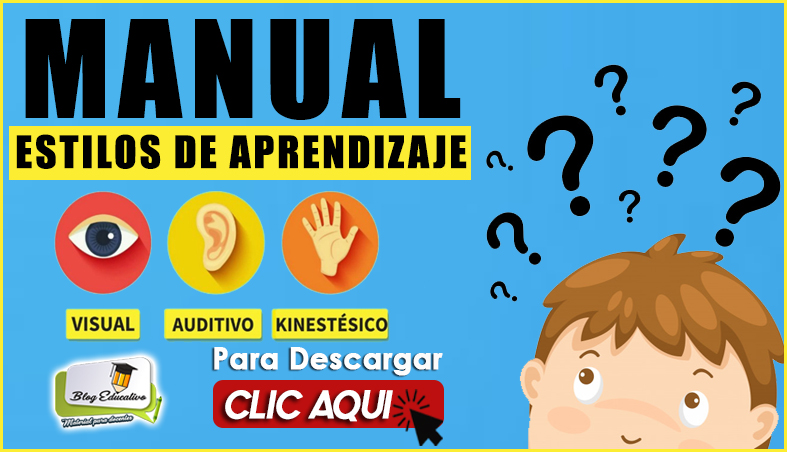 Manual de Estilos de Aprendizaje - Blog Educativo