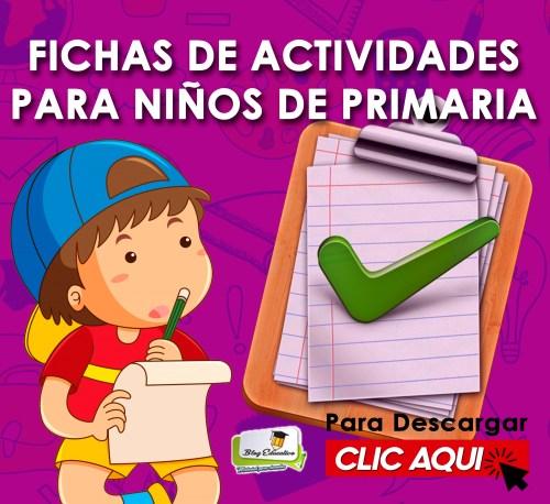 Fichas de Actividades para Niños de Primaria - Blog Educativo