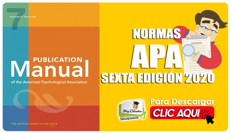 Normas APA Sexta Edición 2020 Gratis - Blog Educativo