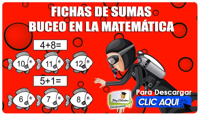 Fichas de Sumas Buceo en la Matemática - Blog Educativo