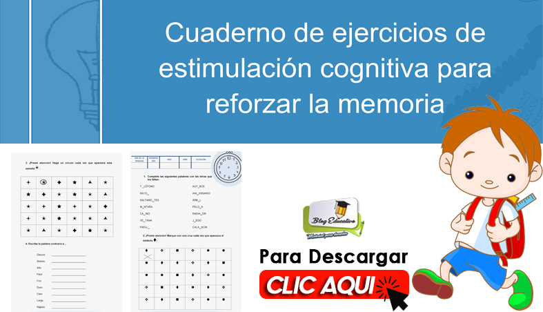 Cuaderno de Ejercicios de Estimulación Cognitiva para la Memoria