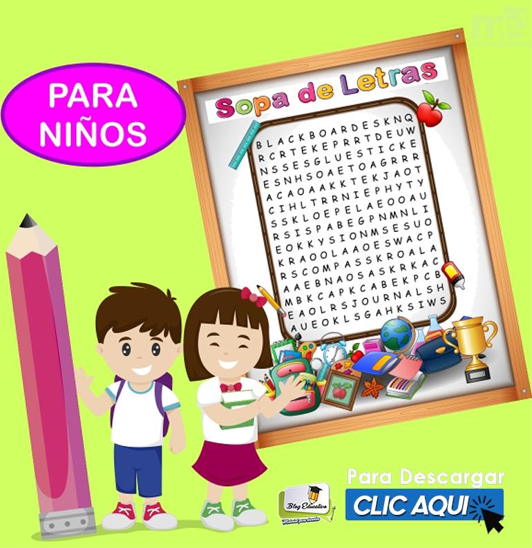 Cuaderno de sopa de letras del abecedario para niños