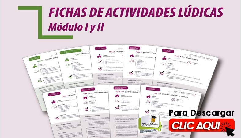 Fichas de actividades Lúdicas Módulo I y II