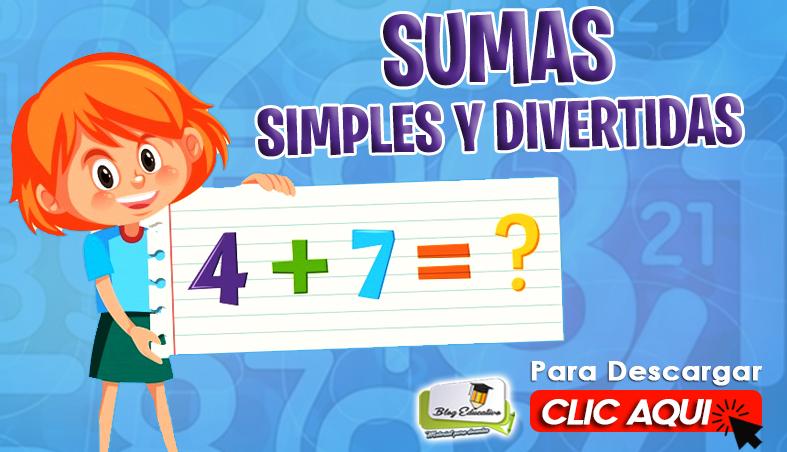 Ficha Sumas Simples y Divertidas - Blog Educativa