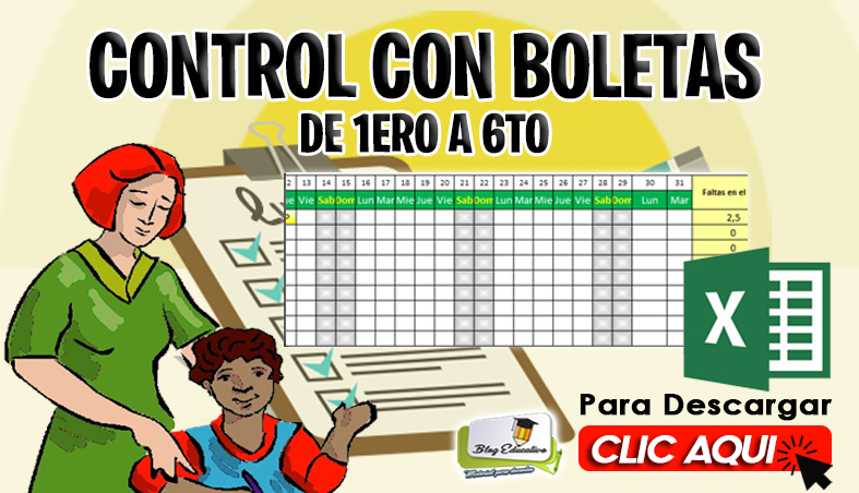 Control con Boletas de 1ero a 6to - Blog Educativo