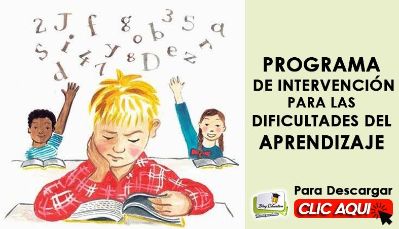 Programa de Intervención para las Dificultades del Aprendizaje