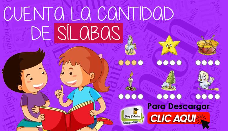 Fichas para Contar la Cantidad de Sílabas - Blog Educativo