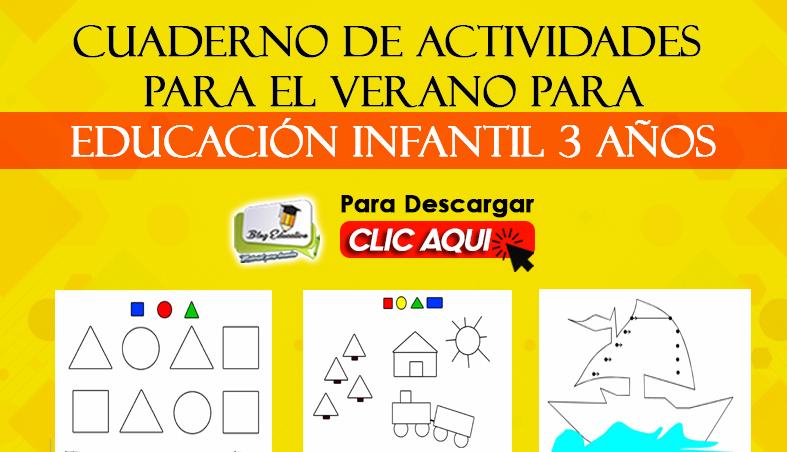 Cuaderno de Actividades para el Verano para Niños de 3 Años
