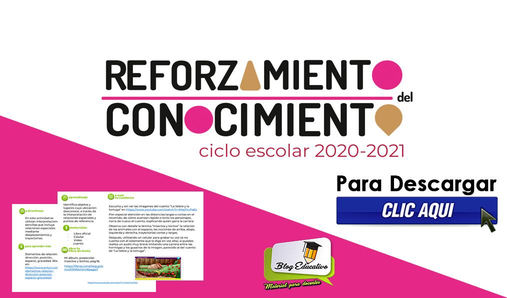 Reforzamiento del Conocimiento ciclo escolar 2020-2021