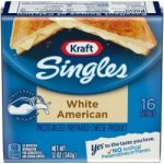 White American Cheese Slices Image