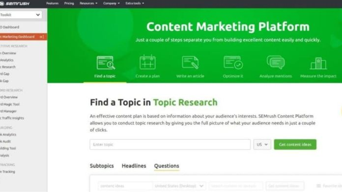 SEMrush Content Marketing Toolkit Review