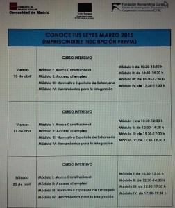 Programación Abril 2015 Centro Alcalá de Henares.