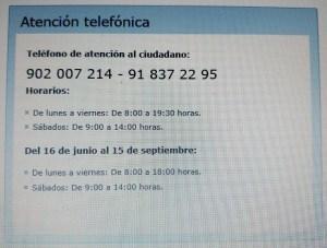 Atención telefónica MJusticia