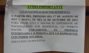 Aviso importante Registro Civil Pradillo