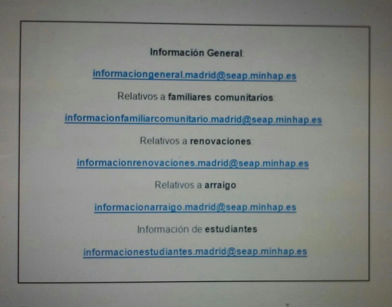 Informaci n tr mites extranjer a madrid blog extranjer a for Oficina extranjeria madrid
