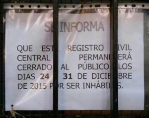 Horario RCC Navidad 2015