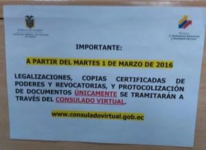 Foto aviso Consulado Ecuador ciertos trámites sólo a través de Consulado virtual
