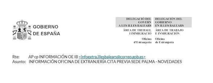 Aviso oficina de extranjer a en islas baleares blog for Oficina de extranjeria palma de mallorca