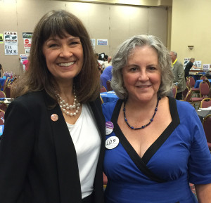Rep. Victoria Steele and Pamela Powers Hannley