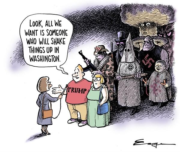 Image result for cartoons trump alt right