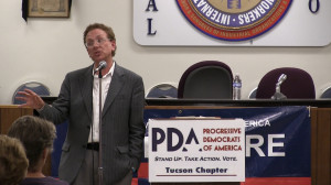"John Nichols of ""The Nation"" speaking in Tucson in March 2015"