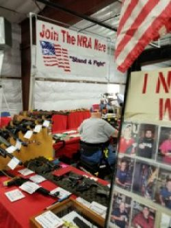 Scurrilous vendors like the NRA and Kelly Ward had booths.