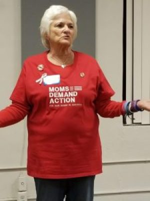 Pat Miesch, a member of Moms Demand Action for Gun Sense in America, recounts the 2011 Gabby Giffords shooting.