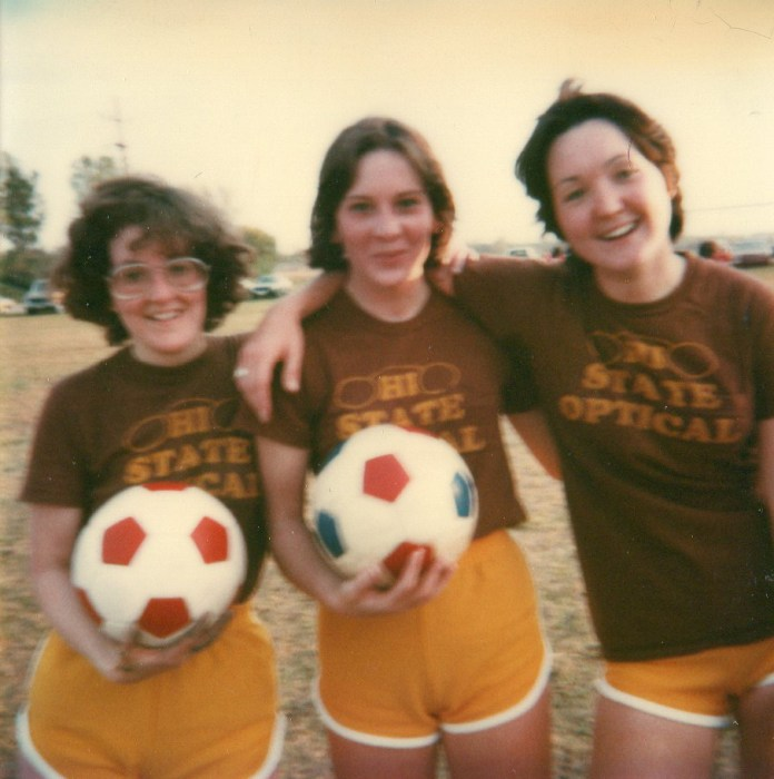 women soccer players 1970s
