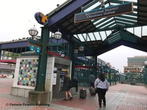 Light rail station in Seattle