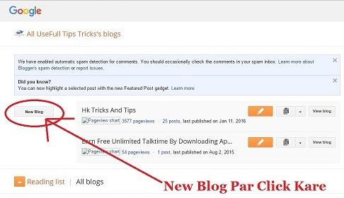 Click On New Blog