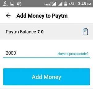 Add Money To Paytm